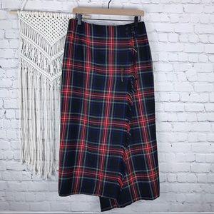 Vintage Rafaella Tartan Wrap Skirt